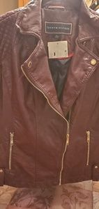 Tommy Hilfiger Faux leather moto jacket